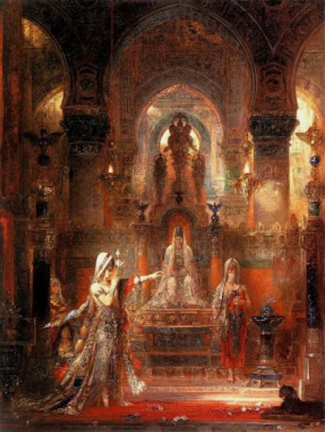 """Salome Dancing before Herod"", c.1876 by Gustave Moreau."