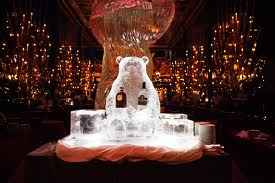 The Russian Tea Room, with an iced Russian bear & vodka display. Source: Therussiantearoomnyc.com