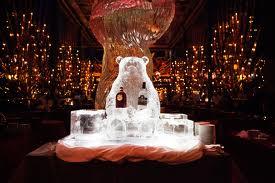 The Russian Tea Room, with an iced Russian bear & vodka display. Source: Therussiantearoomnyc.com