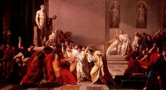 """Death of Julius Caesar"" - 1798 - by Vincenzo Camuccini"