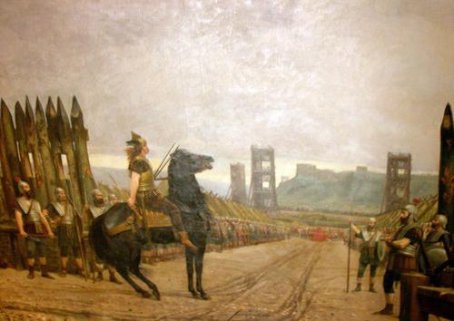 "Henri-Paul Motte, ""Vercingétorix devant César"" or ""Vercingetorix surrendering to Caesar."" 1886."