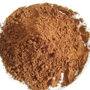 Light, natural, cocoa powder.