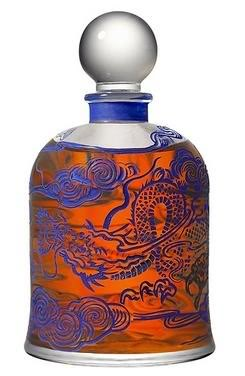 Rare, limited edition, Dragon Bell Jar for Mandarine Mandarin. Source: Serge Lutens Facebook.