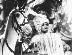 "Marlene Dietrich as Catherine the Great in ""The Scarlet Empress."""