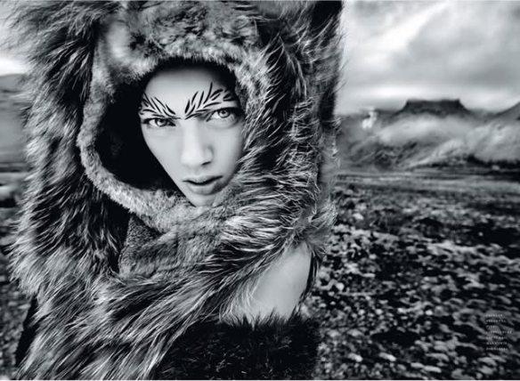 Model, Bregje Heinen, photographed by Jean-François Campos for Flair November 2010.