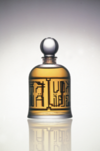 Special, limited-edition, rare bell jar bottle of Muscs Koublai Khan. Source: Serge Lutens Facebook page.