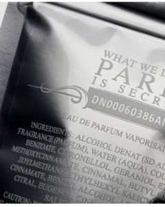 The WWDIPIS bag. Source: Fragrantica