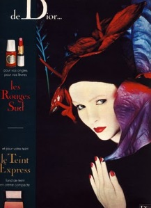 Serge Lutens ad for Dior in French Elle 1977. Source: Beauty is a Warm Gun blogspot.