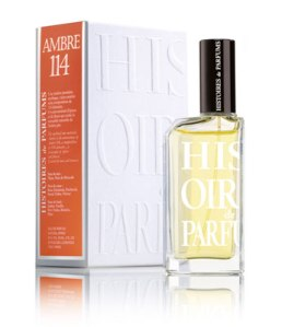 """The """"half"""" bottle of Ambre 114 in the 2 oz/60 ml size."""