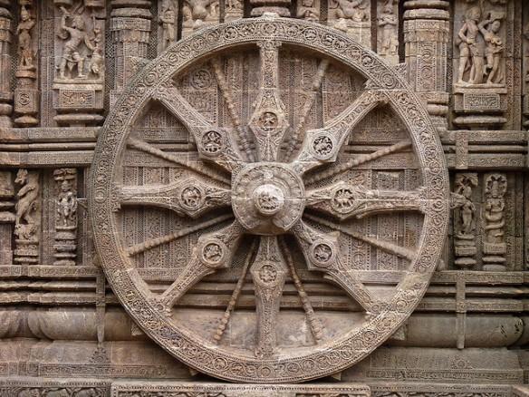 Ashoka's Chakra in stone
