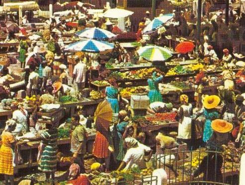 The Pointe-à-Pitre market. Source: guadeloupetraditions.free.fr