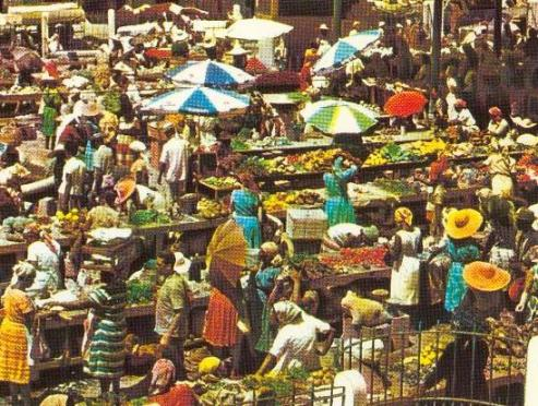 The Pointe-à-Pitre market. Source: guadeloupetraditions.free.fr