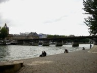 Cloudy by the Seine