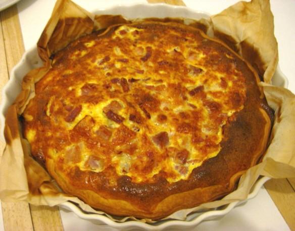 Emmanuelle's Cheese & Ham Quiche.