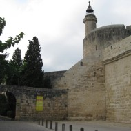 Part of the old 12th century tower and prison.