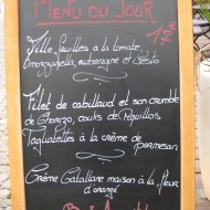 One menu of the hotel's café.