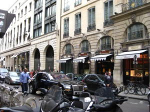 Outside the Hotel Costes. Photo: my own.