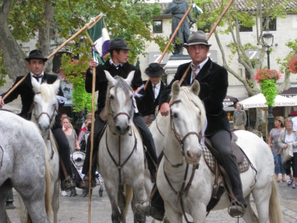 Camargue riders in traditional costume. Photo: my own.