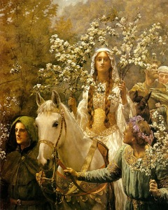 "John Collier, ""Queen Guinevere's Maying"" (1900). Source: Wikipedia."