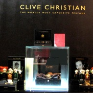 Clive Christian, with a portion showing me and my reflection blurred out. Sorry!