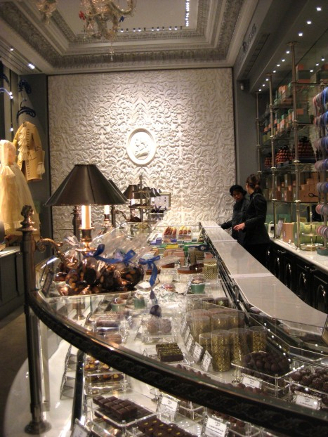 Inside the store.