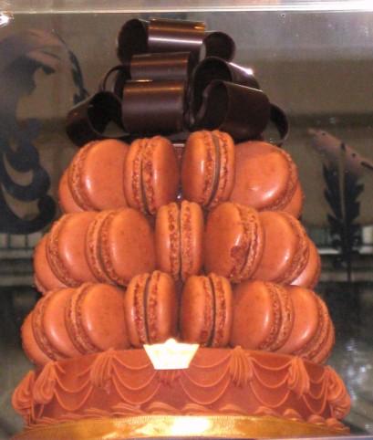 A Ladurée macaron cake.