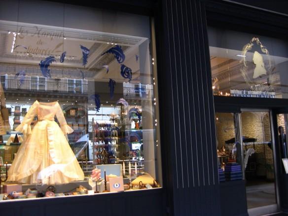 The window of the Ladurée store near the Place Vendome.