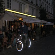 Rental bicycles are widely available throughout Paris. They always have lots of lights and safety neon.