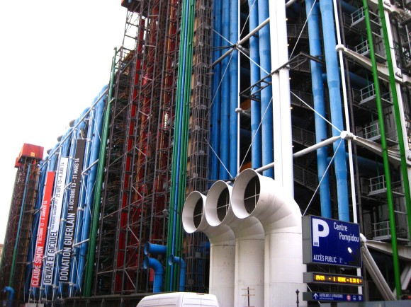 One side of the Pompidou.