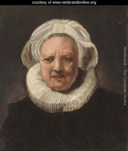 "What may be one of the two portraits in London's National Gallery to which Serge Lutens is referring. This is Rembrandt's ""Portrait of an old woman ages 83."" Source: rembrandtonline.org"