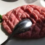 Raw, beef Kebbé or tartate.