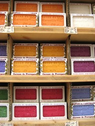 Soap or Savon de Marseilles in lovely colours.