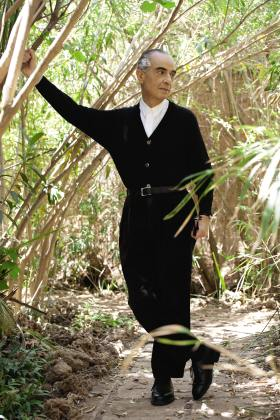 Serge Lutens in the Palmeraie Gardens, Morocco. Photo: Patrice Nagel, courtesy of Serge Lutens and Shiseido, France.