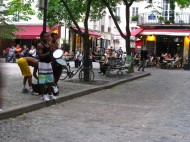 The small square in Le Marais with its cafés.
