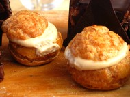 Cream puffs Sunday on the beach.