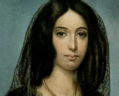 George Sand portrait. I can't find the painter's name.