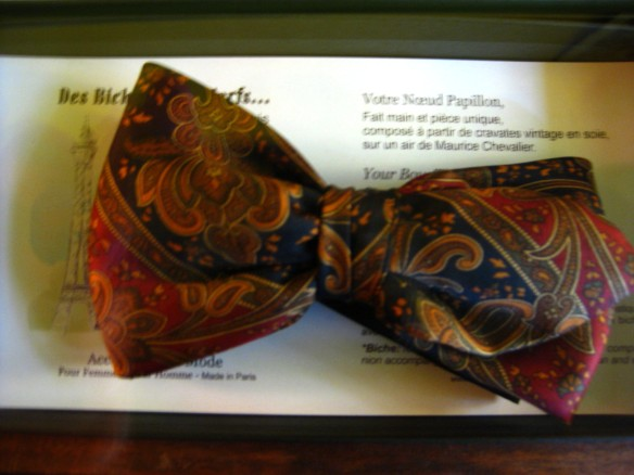 One of the bowties up close.