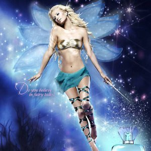 Paris Hilton perfume ad for her second fragrance, Fairy Dust. Source: http://frillr.com/?q=node/9796