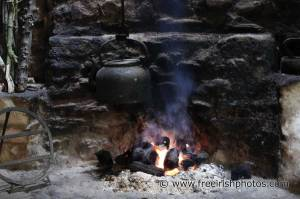 Peat bricks in an outdoor fire. Source: freeirishphotos.com