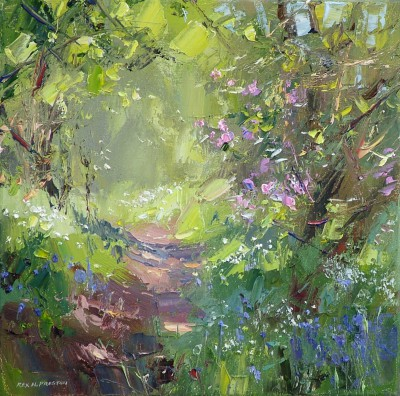 """Rex Preston, """"Spring flowers, Bramley Wood"""" at redraggallery.co.uk"""