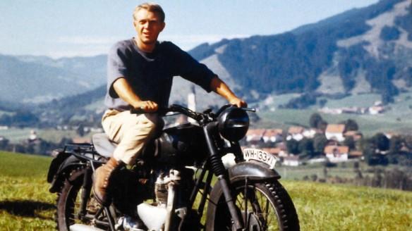 "Steve McQueen in ""The Great Escape."""