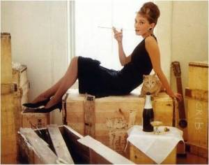 "Audrey Hepburn in ""Breakfast at Tiffany's."""