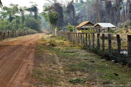 Dusty, dirt road in Laos. Photo: Daniel McBane. http://www.danielmcbane.com/laos/dusty-road-central-motorbike-loop/