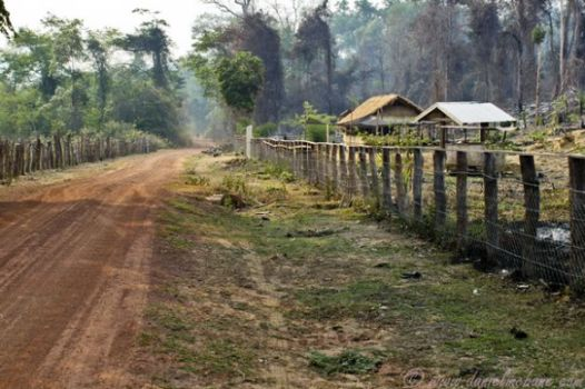 Dusty, dirt road in Laos. Photo: Daniel McBane. http://www.danielmcbane.com/laos/dusty-road-central-motorbike-loop/