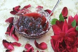 Turkish rose petal jam via amideastfeast.com
