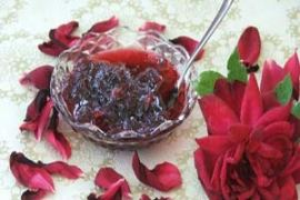 Turkish rose petal jam via amideastfeast.com