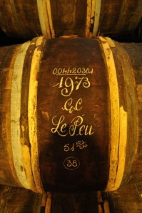 Oak Barrel with 1973 GC Le Peu Hennessy cognac/ Source: blog.cognac-expert.com