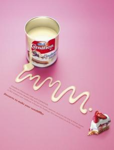 Carnation condensced, sweetened milk. Sourc: coloribus.com