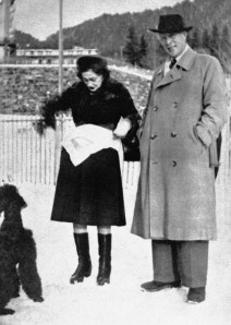 Chanel and Dinklage. in 1951 at Villars sur Ollon, Canton de Vaud, Switzerland. Source: fashionatto.literatortura.com via Paris Match & Bibliotheque des Arts Decoratifs, Paris, France/ Archives Charmet/ The Bridgeman Art Library