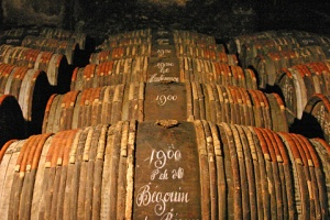 Hennessy's aged cognac barrels. Source: graperadio.com